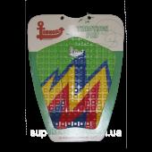 Коврик для вейксёрфа, сёрфа и скимборда задний Linkorskimboards Tail Pad, green multi-coloured