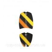 Коврики для вейксёрфа, сёрфа и скимборда Linkorskimboards Luxe-Fix Wakesurf Large Traction Pads, black/yellow