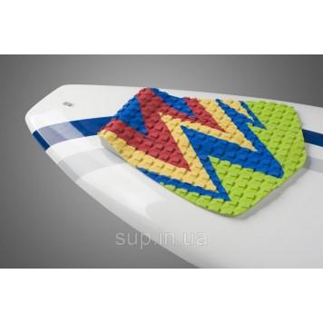 Коврик для вейксёрфа, сёрфа и скимборда задний Linkorskimboards Tail Pad, green multi-coloured-1