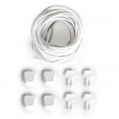 Шнурки для вейкбордических ботинок Ronix Lace Lock Kit (set of 4 laces and lace locks), white