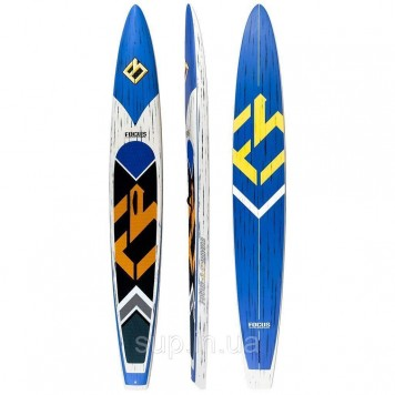 """SUP доска Focus 14'0"""" x 23.5"""" Bluefin Turbo Race Carbon Paddle Board, ACT"""